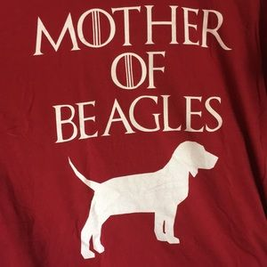 Mother of Beagles 🐶 Game of Thrones T-shirt sz XL